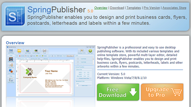 Springpublisher a professional and easy to use desktop publishing springpublisher is a professional and easy to use desktop publishing software with its included various templates and online template store reheart Image collections